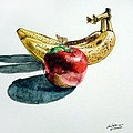 Bananas And An Apple by Christopher Shellhammer