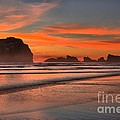 Bandon Sunset And Surf by Adam Jewell