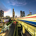 Bangkok Sky Train Rush by Didier Marti