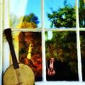 Banjo Mandolin In The Window by Bill Cannon
