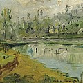 Banks Of The Saone River - Orig. Sold by Bernard RENOT