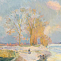 Banks Of The Seine And Vernon In Winter by Albert Charles Lebourg