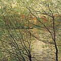 Banks Of The Seine Island Of La Grande Jatte by Claude Monet