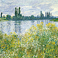 Banks Of The Seine Vetheuil by Claude Monet