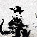 Banksy Boombox  by A Rey