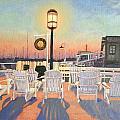Bannister's Wharf Newport Ri by Betty Ann Morris
