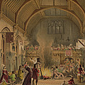 Banquet In The Baronial Hall, Penshurst by Joseph Nash