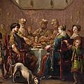 Banquet Scene by Claude Vignon