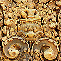 Banteay Srei Carving 01 by Rick Piper Photography