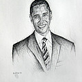 Barack Obama 2 by Michael Morgan