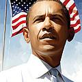 Barack Obama Artwork 1 by Sheraz A