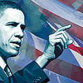Barack Obama Artwork 2 by Sheraz A