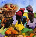 Barbados Market 1  Wi by Val Byrne