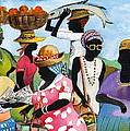 Barbados Market 3  Wi by Val Byrne