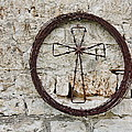 Barbed Wire Cross by Terry Fleckney