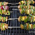 Barbeque Kabobs On Grill by Jason O Watson