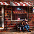 Barber - Metuchen Nj - Waiting For Mike by Mike Savad
