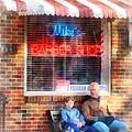 Barber - Neighborhood Barber Shop by Susan Savad
