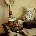Barber - Shaving Brush Mugs And Mirror by Susan Savad