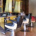 Barber - Small Town Barber Shop by Susan Savad