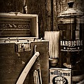 Barber - Vintage Barber Tools - Black And White by Paul Ward