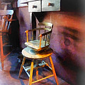 Barber - Vintage Child's Barber Chair by Susan Savad
