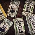 Barber - Vintage Gillette Razor Blades by Paul Ward