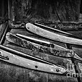 Barber - Vintage Razors In Black And White by Paul Ward