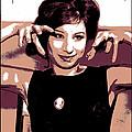 Barbra Streisand - Brown Pop Art by Absinthe Art By Michelle LeAnn Scott