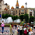 Barcelona - Abstract - Plaza De Catalunia by Jacqueline M Lewis