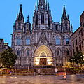 Barcelona Cathedral In The Evening by Artur Bogacki