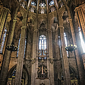 Barcelona Cathedral Interior by Joan Carroll