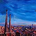 Barcelona City View And Sagrada Familia by M Bleichner