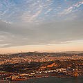 Barcelona On Sunrise. Aerial View by Jenny Rainbow