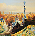 Barcelona Park Guell by Kiril Stanchev
