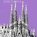 Barcelona Skyline La Sagrada Familia - Violet by DB Artist