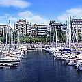 Barcelona Spain Port Vell Marina 3 by David Zanzinger