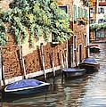 Barche A Venezia by Guido Borelli