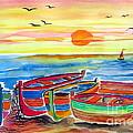 Barche Dei Pescatori  by Roberto Gagliardi