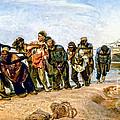 Barge Haulers On The Volga 1870-1873 by Viktor Birkus
