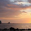 Barge Into The Sunset by Pamela Walton