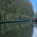 Barge On Burgandy Canal by Carl Purcell