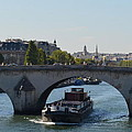 Barge On River Seine by Cheryl Miller
