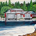 Barkhouse Boatshed by Marilyn  McNish