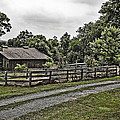 Barn And Corral by Guy Shultz