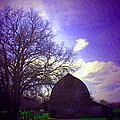 Barn And Oak Digital Painting by Joyce Dickens