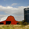 Barn And Silo by Robert Camp