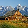 1m9394-barn And The Tetons by Ed  Cooper Photography