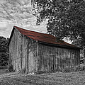 Barn At Avenel Plantation - Red Roof by Steve Hurt