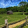 Barn At Hartwood Acres Under Beautiful Sky by Amy Cicconi